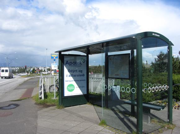 1 Bus Stop, into RVK