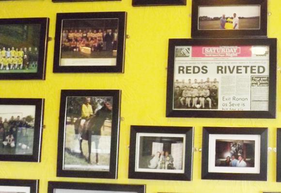 Clubhouse wall
